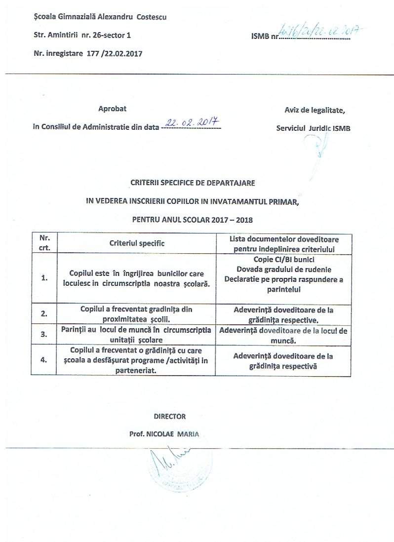 Criterii specifice de departajare copy